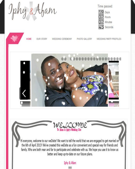Ify & Afam Wedding site